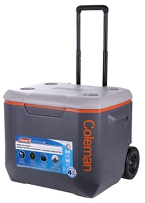 heavy duty coolers with wheels coleman 57l wheeled cooler with telescopic handle heavy