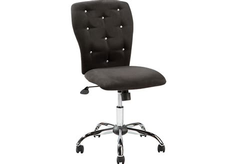 lucille black desk chair desk chairs black