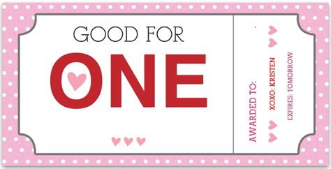 lovely valentine coupon book template images resume