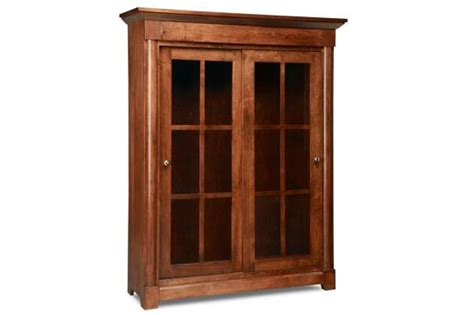 hudson valley library cabinet solid wood bookshelves