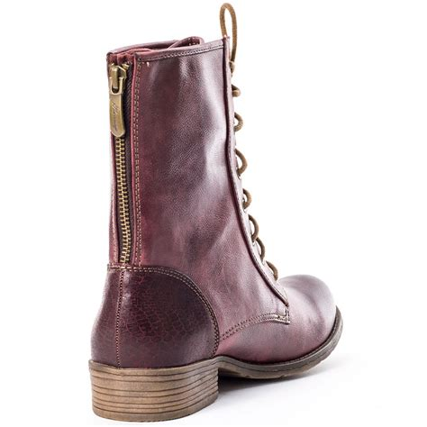 wine boots mustang 1167507 womens boots in wine