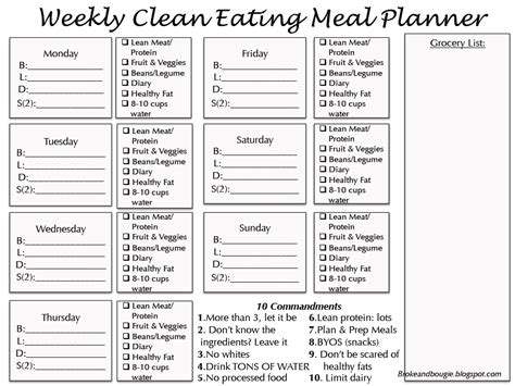 printable meal prep plan broke and bougie clean eating meal plan printable bonus