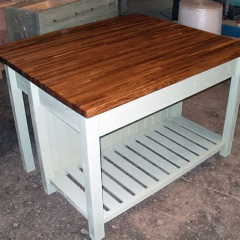 Free Standing Breakfast Bar Table Kitchen Furniture By Black Barn Crafts Norfolk