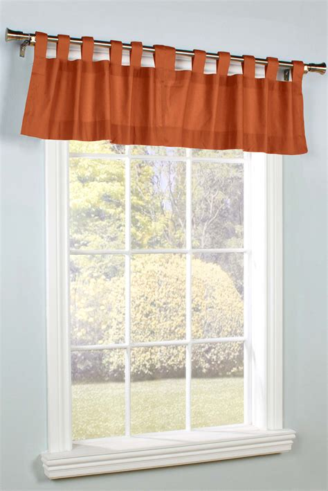 Tab Top Valances Weathermate Solid Color Tab Top Valance By Thermalogic
