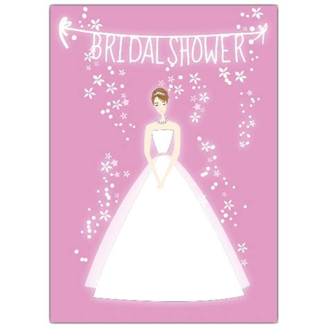 bridal shower invitation cards templates pink bridal shower invitations paperstyle