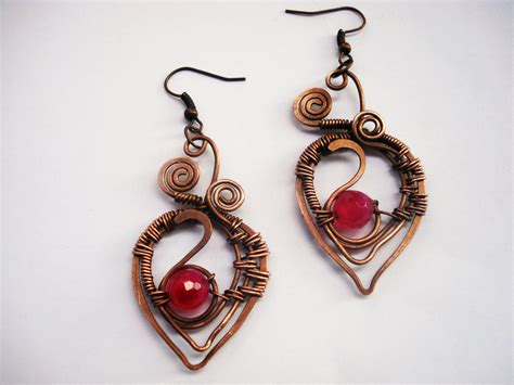 Handmade Aluminum Wire Jewelry - handmade set wire wrapping with copper wire and