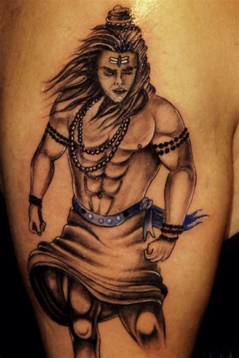 the dancing lord shiva natraj tattoo on s back