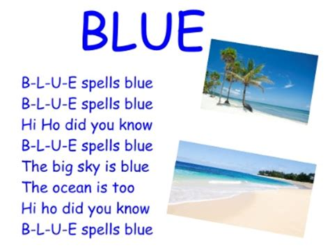 blue color song 7 best images of frog press color printables frog
