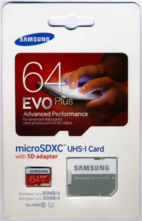 Micro Sd Samsung Evo Plus cdrlabs packaging and physical features samsung