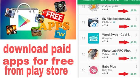 download youtube play store how to download paid apps games books for free in play