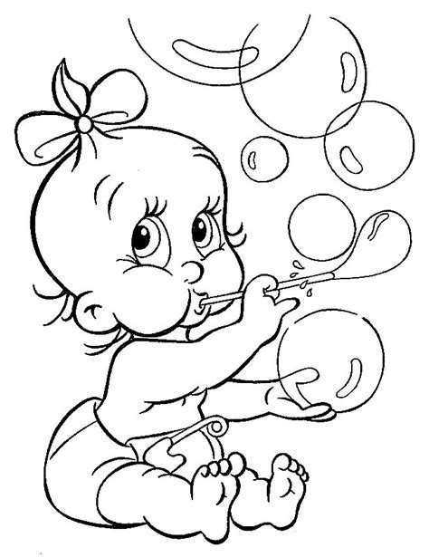 baby coloring pages free az coloring pages