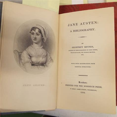 biography jane austen book quot jane austen a biography quot by geoffrey keynes 1929 nonesuch
