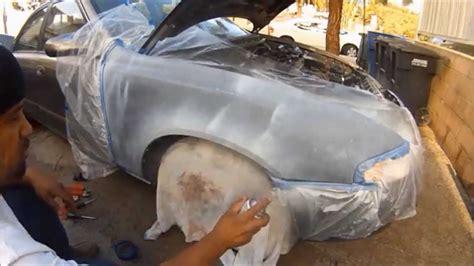 how 2 spray paint a car fender how to paint a car