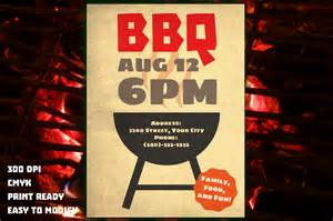 bbq flyer flyer templates on creative market