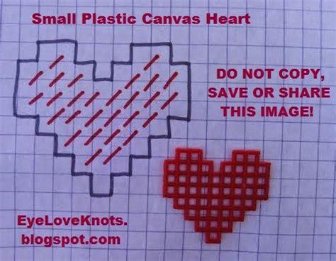 heart pattern for plastic canvas eyeloveknots small plastic canvas hearts free plastic