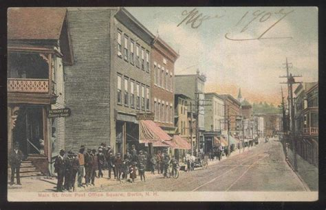 New Berlin Post Office Hours by 1907 Postcard Berlin Nh New Hshire St From Post