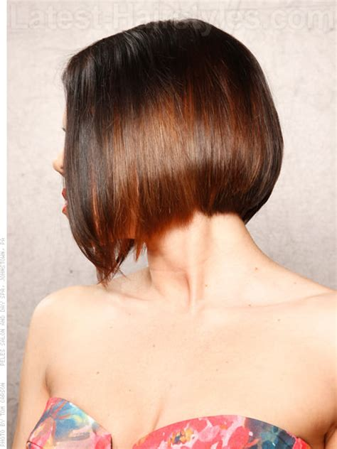 haircut choppy with points photos and directions low and steep angular bob for straight hair side view my