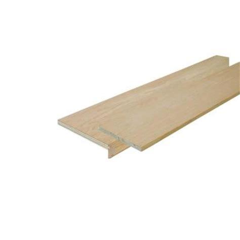 simple tread 11 1 2 in x 48 in oak false stair tread cap