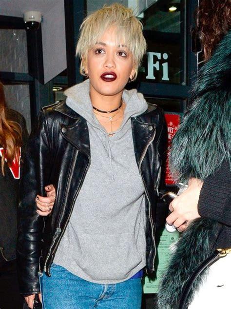 rita ora choppy hairstyles it s choppy and we like it rita ora shows off her