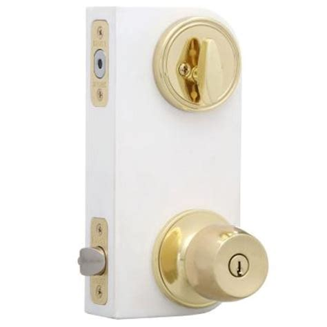 Defiant Door Knobs by Defiant Brandywine Polished Brass Entry Knob And Single