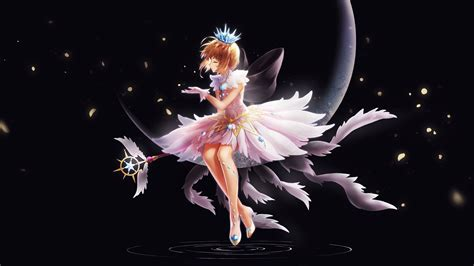 wallpaper cardcaptor sakura anime girl dark background