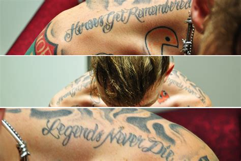 mgk back tattoo mgk quotes tattoos for