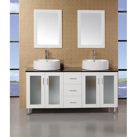 Bathroom Vanities Modern Style Design Element Seabright 60 Quot Sink Modern Bathroom Vanity White Free Shipping Modern