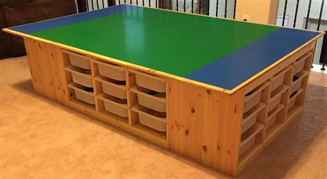 the lego table goes awesome uses 4 ikea s trofast frames