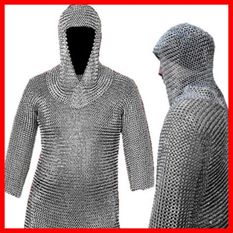 Lotr Home Decor 16 gauge chainmail chain mail shirt coif armor lotr