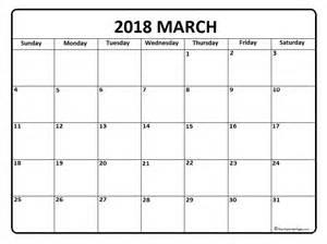 Calendar 2018 March Canada March 2018 Calendar March 2018 Calendar Printable