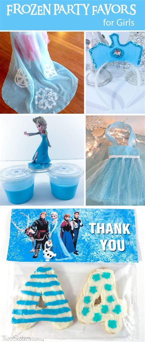Frozen Party Giveaways - frozen party favors for girls two sisters crafting
