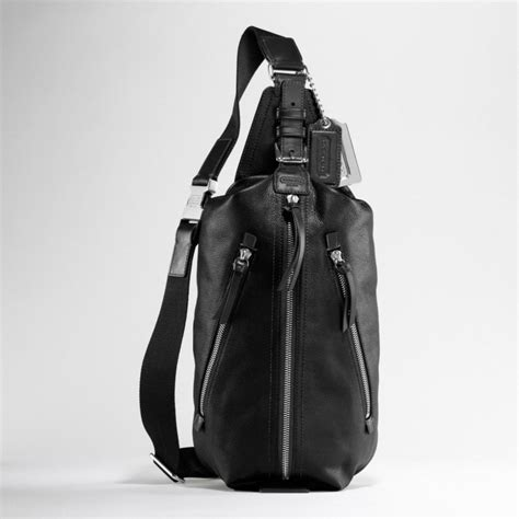 Coach Cus Sling Backpack 1 lyst coach thompson leather sling pack in black for