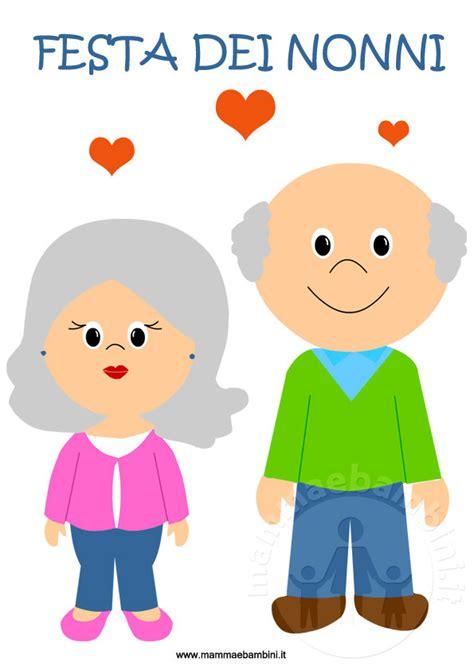 clipart nonni disegno nonni con scritta mamma e bambini