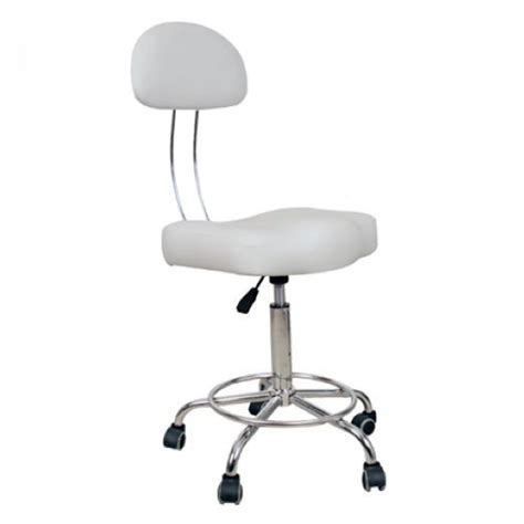 bar stools with back support professional white therapist s massage stool in