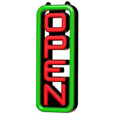 light up open closed sign green light electric open sign bj s wholesale