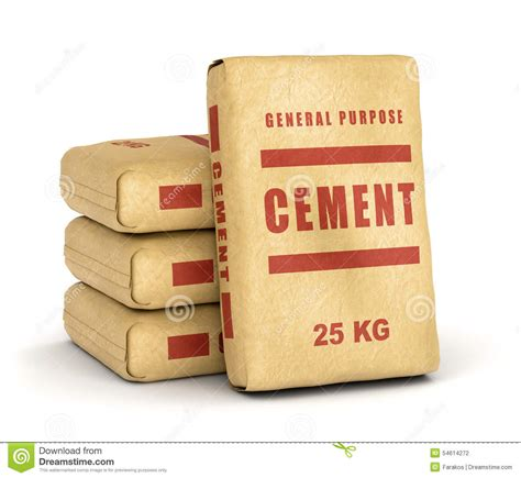 Ein Sack Zement by Cement Bags Pile Stock Illustration Illustration Of