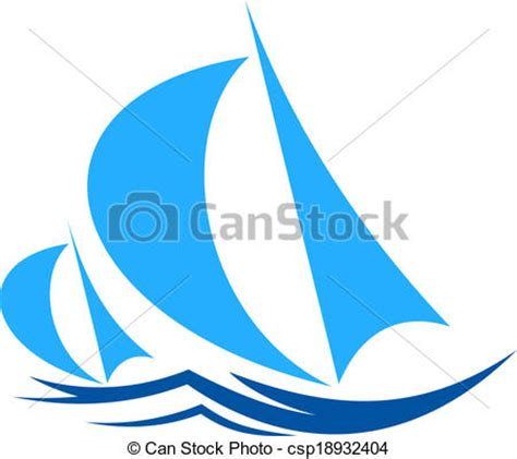 sailboat waves icon vector clipart of two yachts racing on ocean waves two