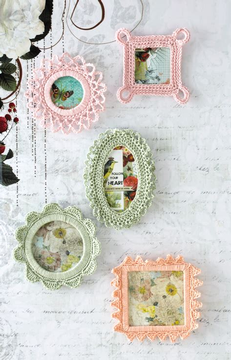 crochet pattern picture frame tangled happy crochet picture frames