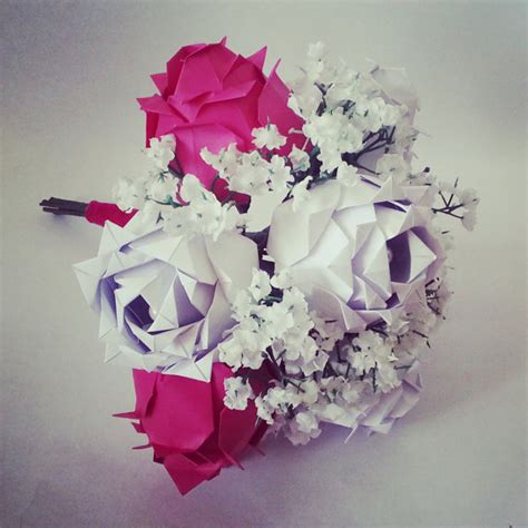Anniversary Origami - paper anniversary gift origami bouquet roses baby s