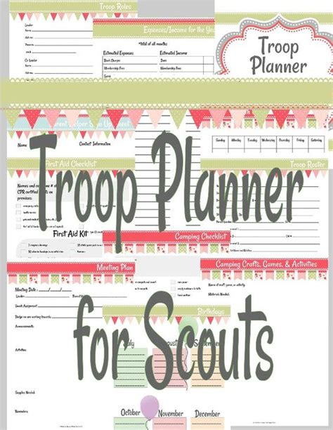 scout templates troop planner for scouts scouts need to and worksheets