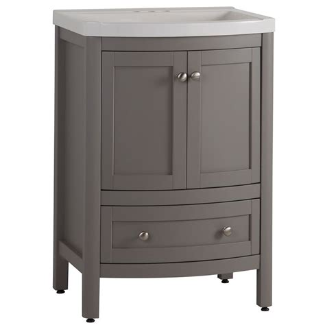 st paul madeline 24 inch w vanity in sterling finish with