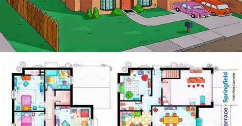 742 evergreen terrace floor plan ever wondered about the floor plan of the simpsons house check it out simpson family 742