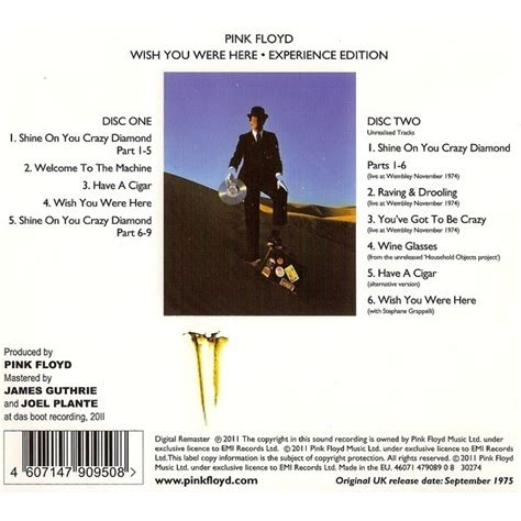 You Were Here wish you were here experience edition by pink floyd cd