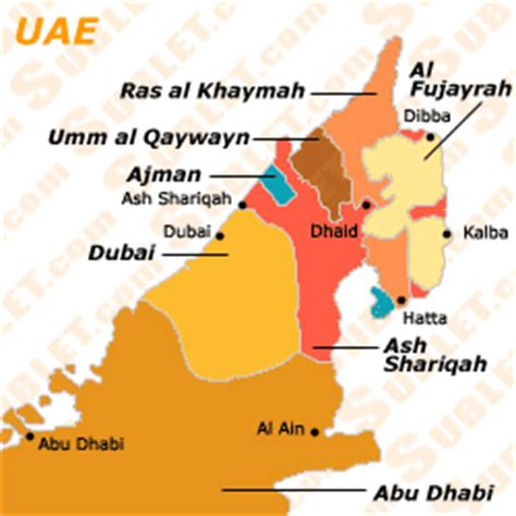 uae states map u a e furnished apartments sublets term rentals