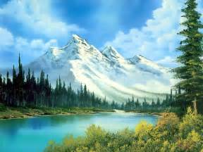 Landscape Pictures Mountains Mountain Landscape Painting Photography Background