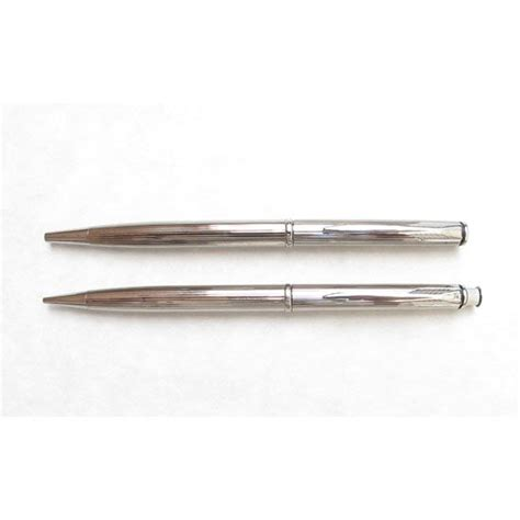 pens made in usa insignia dimonite z silver ballpoint and pencil set