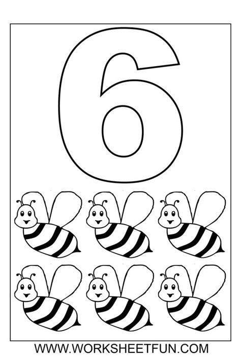 printable hollow numbers number coloring 1 10 ten worksheets printable