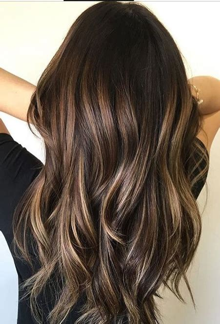 spring highlights for brunettes dark brunette hairstyles for spring 2018 brown balayage