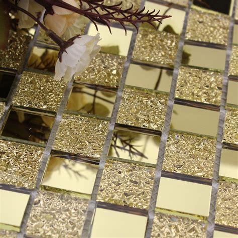 gold backsplash tile wholesale mirror tile backsplash gold vitreous glass