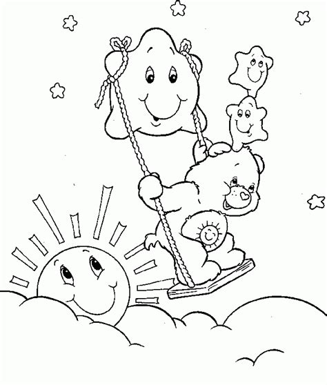 care bear coloring pages pdf care bear playing with stars coloring pages care bears